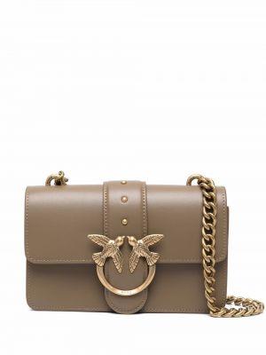 Кожаная сумка - зеленая Pinko