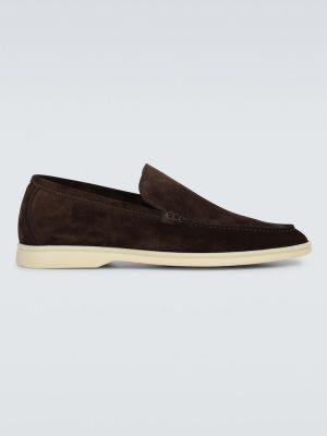 Туфли белый замшевые Loro Piana