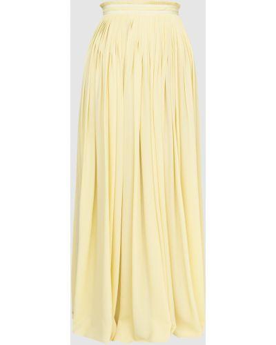 Шелковая юбка макси - желтая Vionnet
