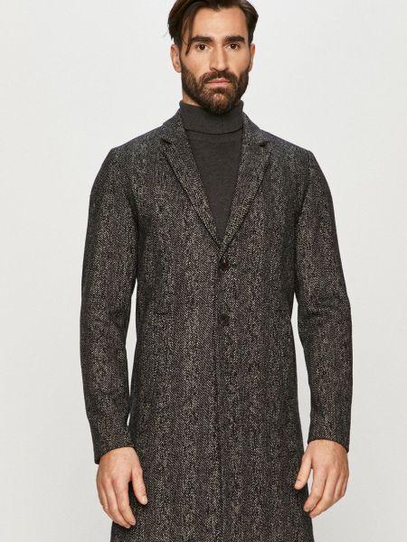 Прямое шерстяное пальто классическое с карманами Jack & Jones