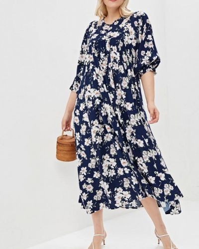 Повседневное платье синее Артесса
