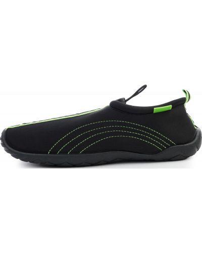 Текстильные пляжные черные тапочки Joss