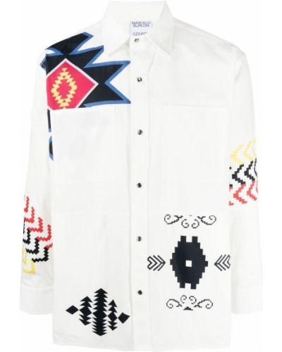 Biała koszula bawełniana Marcelo Burlon County Of Milan