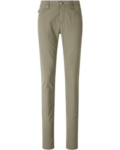 Zielone jeansy slim Tramarossa
