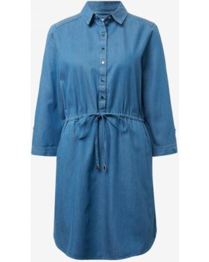 Джинсовое платье на пуговицах с поясом Tom Tailor