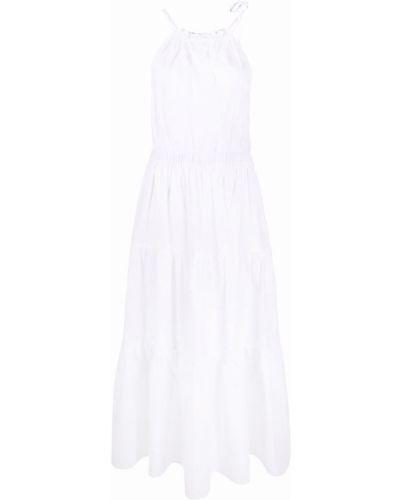 Расклешенное белое платье миди без рукавов Antonelli