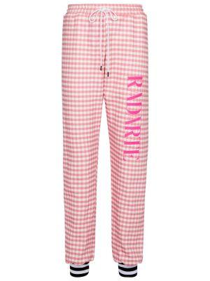 Różowe joggery bawełniane vintage Rodarte