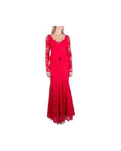 Вечернее платье летнее с баской Olvi's