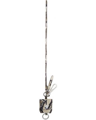 Кожаная черная ключница с подкладкой с тиснением 3.1 Phillip Lim