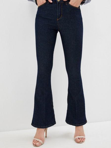 Широкие джинсы расклешенные синие Rinascimento