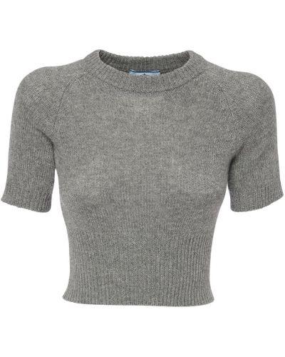 Кашемировый свитер с воротником с манжетами Prada