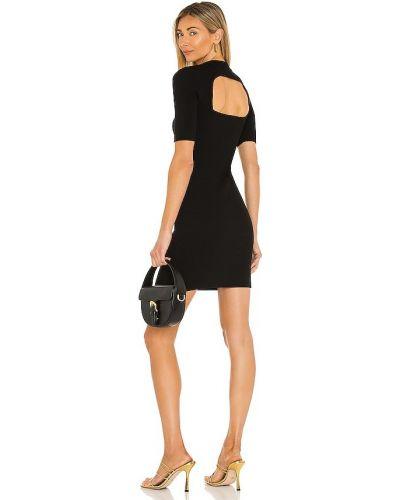Платье с открытой спиной - черное 525
