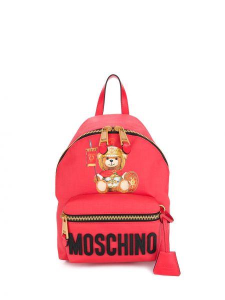 Skórzany plecak klasyczny włoski Moschino