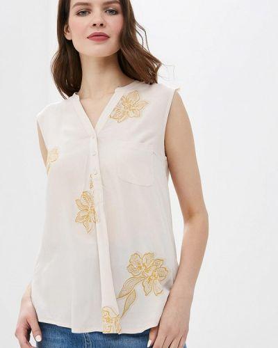 Блузка без рукавов весенний бежевый Sela