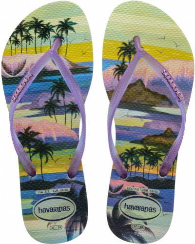 Фиолетовые резиновые сланцы Havaianas