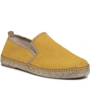 Żółte klasyczne espadryle skorzane Toni Pons