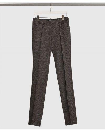 Шерстяные классические брюки - серые Barbara Bui