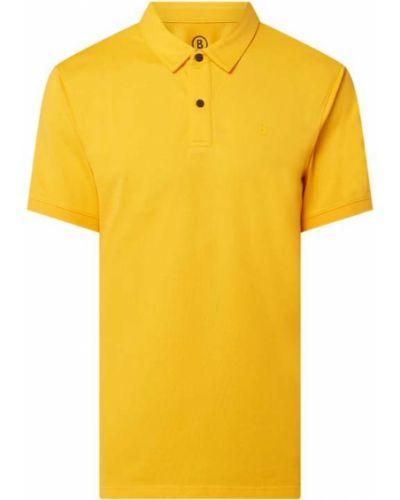 Pomarańczowy t-shirt bawełniany Bogner