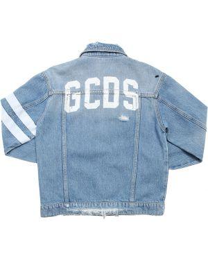 Jeansy z nadrukiem z logo Gcds