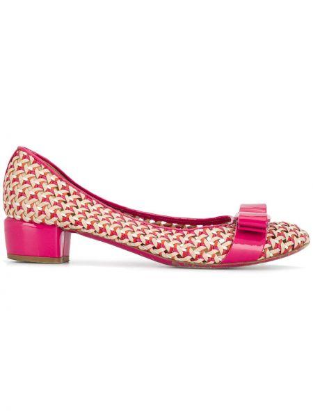 Туфли на каблуке с бантом плетеные Salvatore Ferragamo Pre-owned
