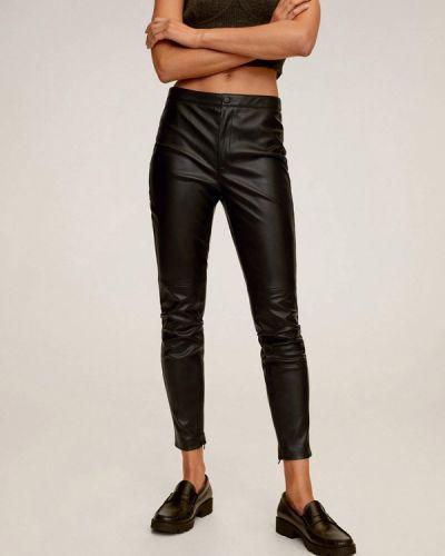 Кожаные черные брюки Mango
