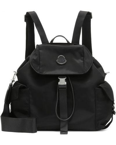 Кожаный рюкзак текстильный черный Moncler