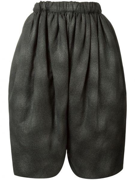 Шерстяные серые шорты с поясом Comme Des Garçons Pre-owned