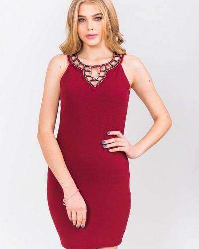 Платье осеннее красный Olko