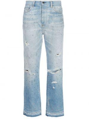 Хлопковые белые брюки с карманами Amiri