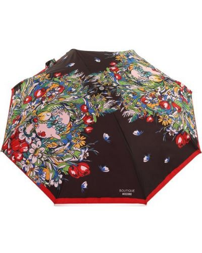 Черный автоматический зонт Moschino