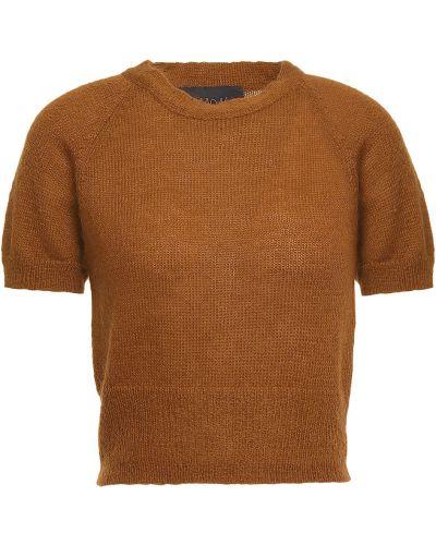 Koszulka prążkowana - brązowa Simon Miller