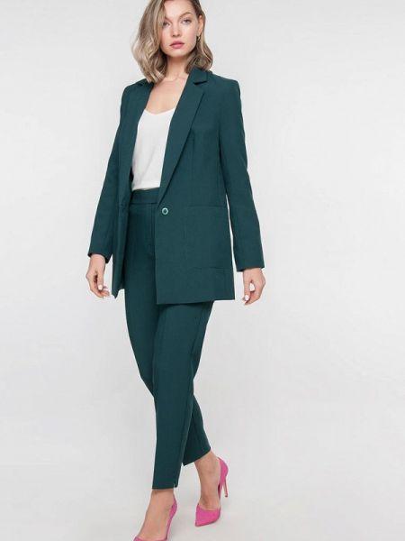 Брючный костюм зеленый Лимонти