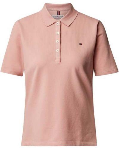 Różowy t-shirt krótki rękaw bawełniany Tommy Hilfiger