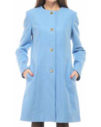 Голубое пальто осеннее Love Moschino