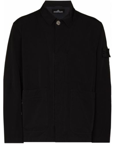 Длинная куртка - черная Stone Island Shadow Project