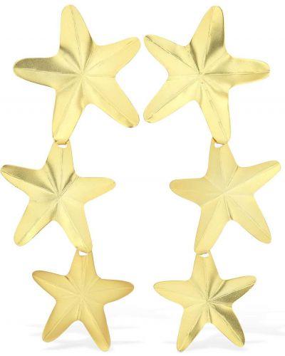 Złote kolczyki sztyfty pozłacane Mercedes Salazar