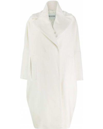 Шерстяное белое пальто классическое Ava Adore
