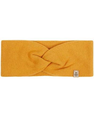 Żółta z kaszmiru czapka Roeckl
