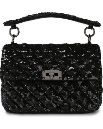 Черная сумка вечерняя Valentino