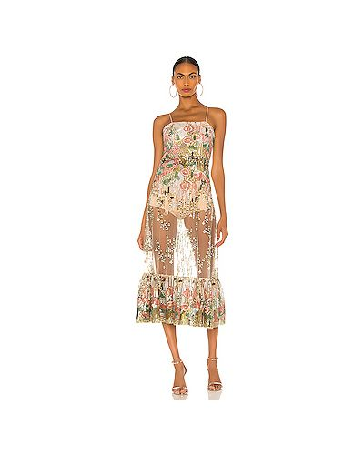Нейлоновое платье с вышивкой на молнии с подкладкой Alexis