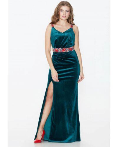 Платье с поясом - синее Nenka