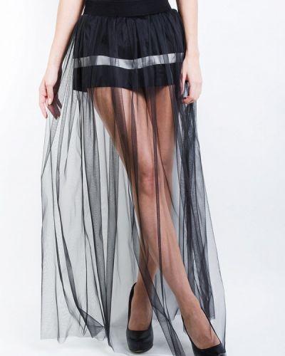 Плиссированная юбка черная Kriza