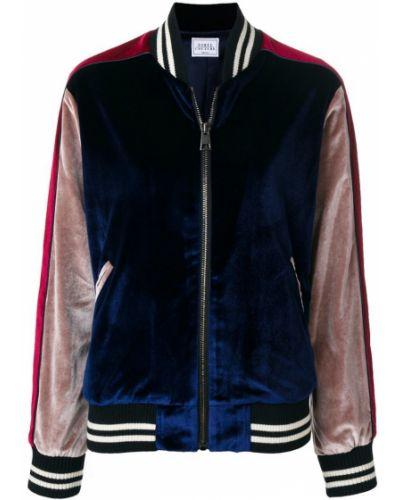 Синяя куртка велюровая Forte Couture