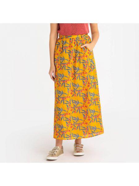 Расклешенная юбка макси с поясом с рисунком на пуговицах Harris Wilson