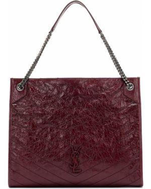 Кожаная сумка шоппер большая Saint Laurent