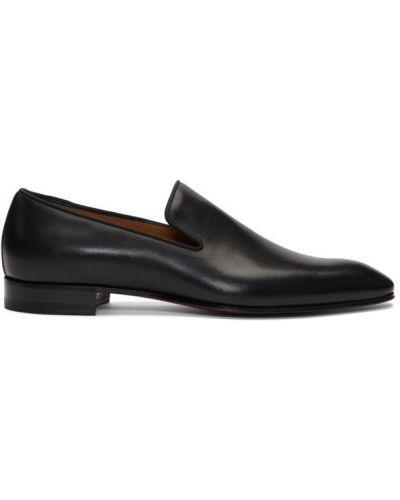 Czarny loafers z prawdziwej skóry Christian Louboutin