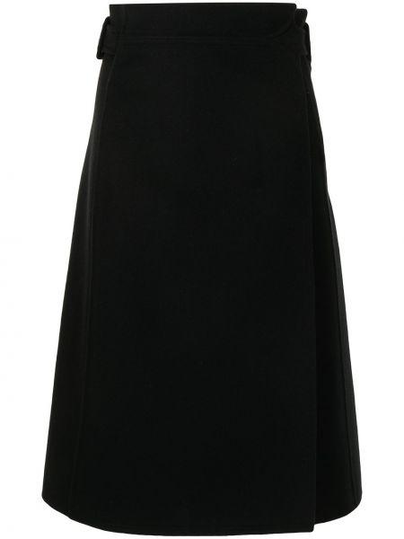 Шерстяная юбка миди - черная Ports 1961