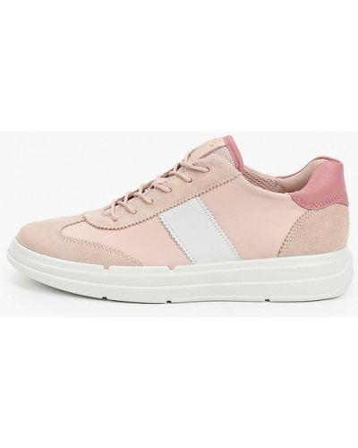 Розовые зимние низкие кроссовки Ecco