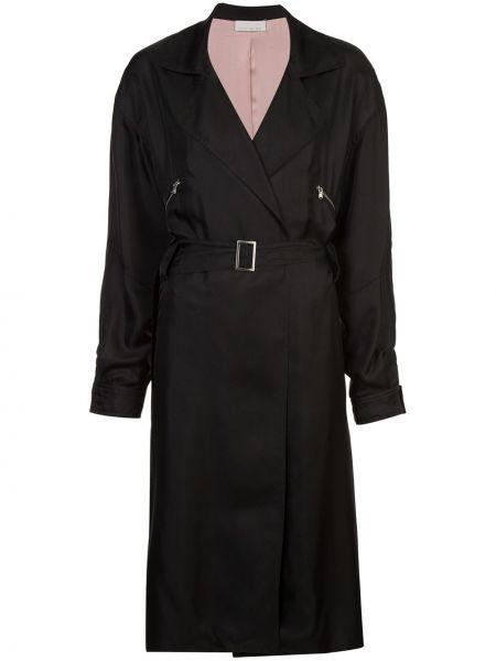 Черное пальто с капюшоном Fleur Du Mal