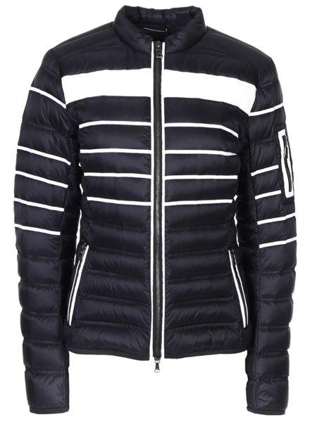 Приталенная теплая черная утепленная куртка на молнии Bogner